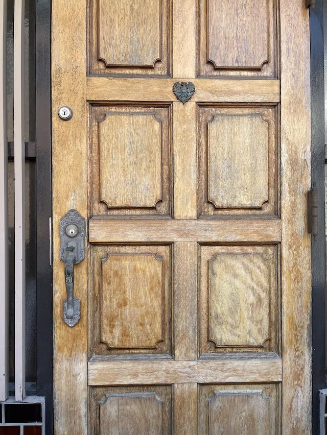 木製玄関ドア 塗り替え