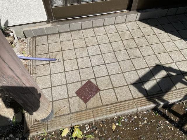 玄関タイル 清掃