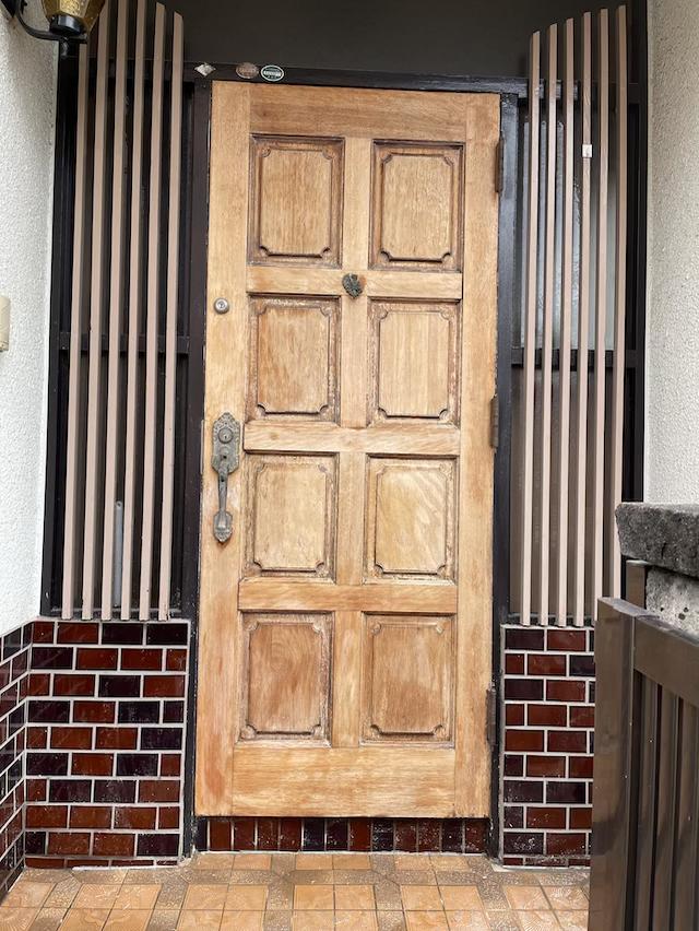 木製玄関ドア 塗膜剥がし