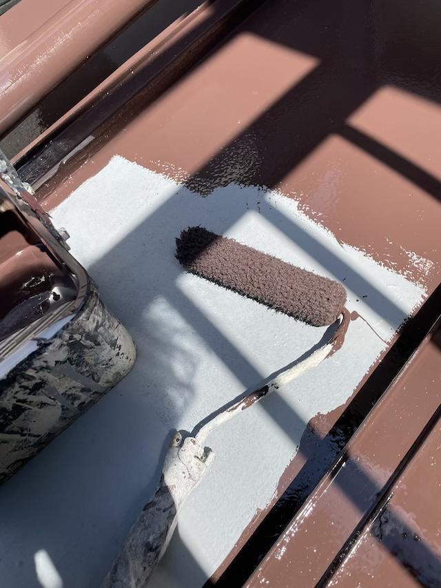 下屋根塗り替え工事