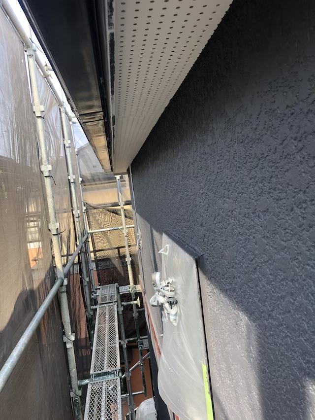 外壁塗り替え上塗り工事