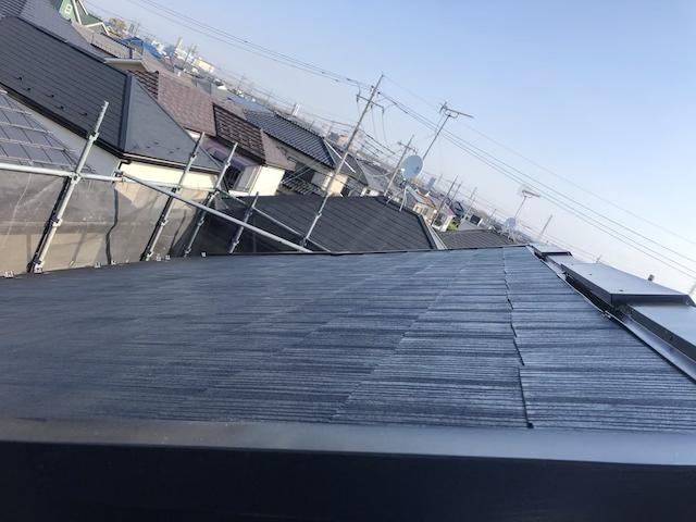 コロニアル屋根塗り替え