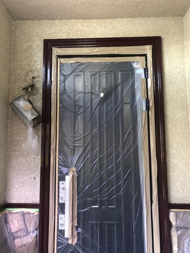 玄関塗り替え