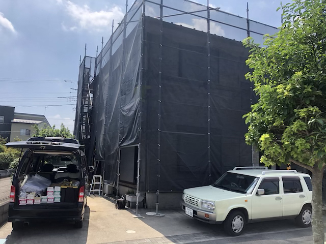 草加市長栄町外壁塗り替え