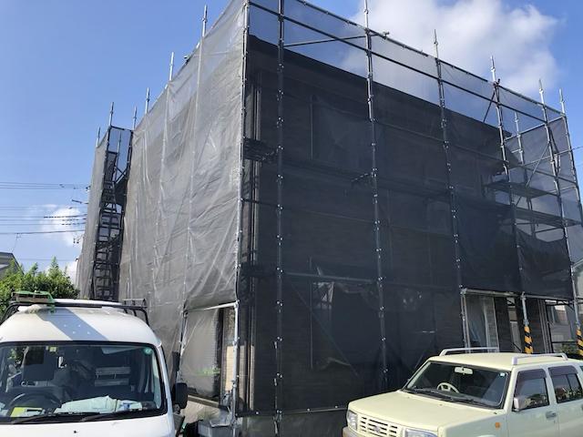 草加市長栄町外壁塗り替え工事