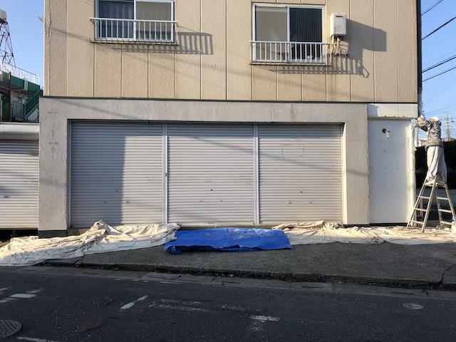 草加市店舗外壁塗り替え