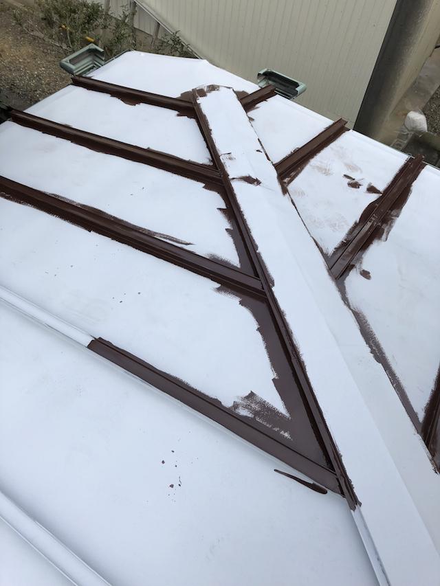 トタン屋根中塗り