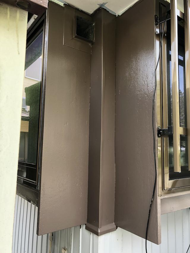 出窓木部部分上塗り