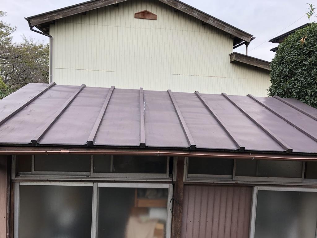 平屋トタン屋根施工前